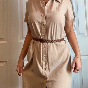 Safari/Khaki/Simple button up dress